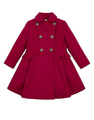 Girls Monsoon Red Military Flared School Rosie Frock Dress Jacket Coat 5 - 6 New