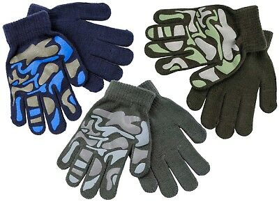 RJM Kids Grippy Camouflage Design Magic Gloves