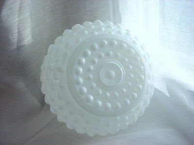 Vtg White Hobnail Glass Light Shade Globe 4 by 6 inch Round