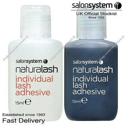 Salon System Semi-Permanent Individual Eyelash Adhesive Clear or Black Glue 15ml