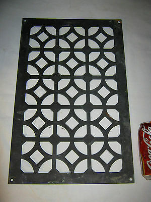 # 1 Antique Bronze Architectural Art Flower Garden Panel Plaque Vent Wall Grate