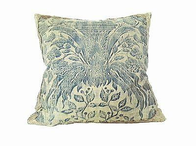 Italian 1920's Fortuny Pillow of a 16th Century Vase Design