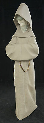 "Lladro Friar Franciscan Monk # 2060 Figurine Bisque 13"" MINT"