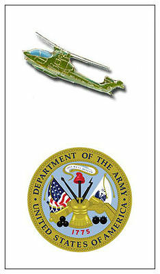 Bell Cobra AH  Attack Helicopter Army Pilot Battle Black Wing Crew Night Pin Tac