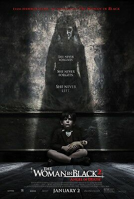 WOMAN IN BLACK 2 ANGEL OF DEATH vg 27x40 ORIGINAL D/S MOVIE POSTER