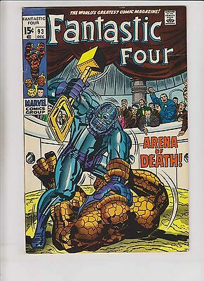 Fantastic Four #93 FN/VF stan lee - jack kirby - thing vs torgo - silver age