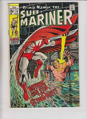 Prince Namor, the Sub-Mariner #19 VG+ november 1969 - 1st appearance of stingray