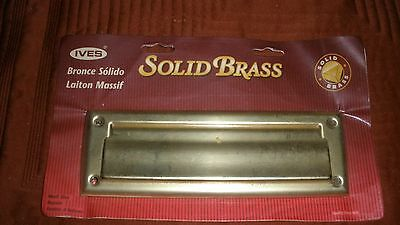 "Older Ives Solid Brass Mail Slot-9""X3"" MIOP"