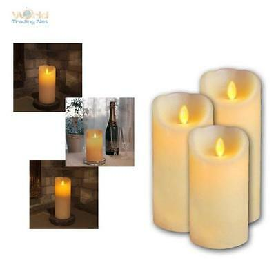 Real Wax candle with moving LED Flame Wax Candles flameless flickering candle