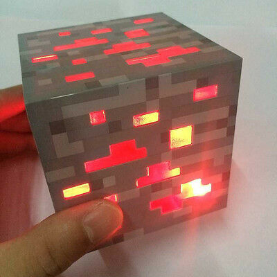 Minecraft Flashlight LED Torch Miner's Lamp Interaction Lights Cube Light Toy