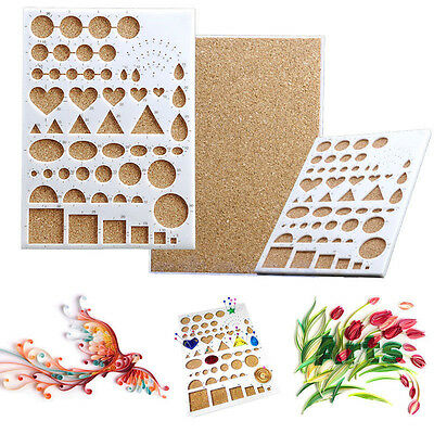 Paper Quilling Template Board DIY Scrapbooks Papercraft Quil Tool Crimper Mould