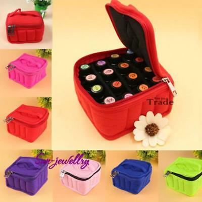 Soft 16 Bottles Essential Oil Organizer Holder Bag Nail Polish Case Storage Bag