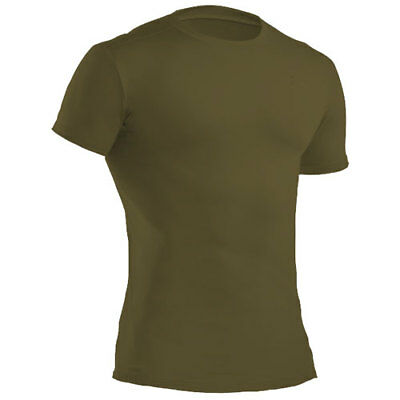 Under Armour Tactical Heatgear Crew Mens Base Layer Top - Olive All Sizes