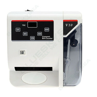 Bank Note Multi-currency Bill Counter Detector Money Fast Counting 100-240V UV
