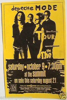 "DEPECHE MODE 1993 ""DEVOTION TOUR"" HOUSTON CONCERT POSTER - New Wave Music"
