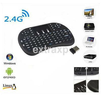 Black Wireless Keyboard 2.4G Touchpad Handheld Keyboard for PC Android TV CA