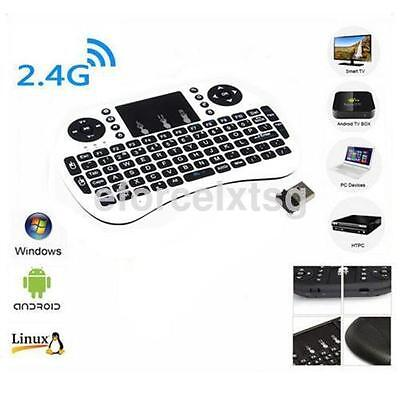 White 2.4G Wireless Keyboard Air Mouse Remote Control Touchpad For PC TV Box CA