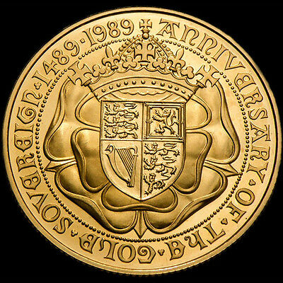 Queen Elizabeth Ii 1989 Tudor Rose £2 Gold Sovereign.....