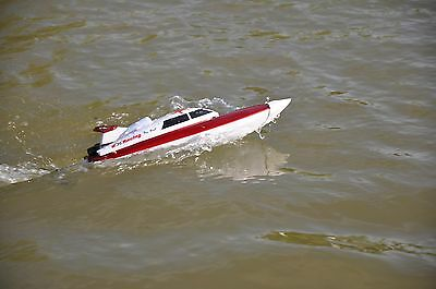 Serpent Racing Radio Controlled Model Speed Boat Kit - Red