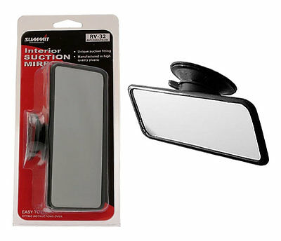 16 x 8cm UNIVERSAL CAR INTERIOR SUCTION REAR VIEW FLAT MIRROR SUCTION INSTRUCTOR