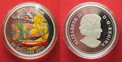 CANADA 20 Dollars 2013 AUTUMN HARMONY silver COLORED Proof # 94805