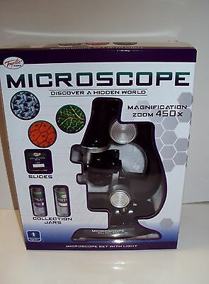 Childrens Junior Microscope Set Science and Nature Kids Educational Toy New