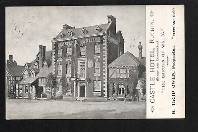 Ruthin - Castle Hotel - printed postcard