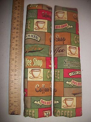 "Coffee Sage Green Checked Patchwork 10"" Refrigerator Door Handle Cover"