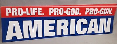 WHOLESALE LOT OF 20 PRO LIFE GOD GUNS AMERICAN BUMPER STICKERS Trump $ president