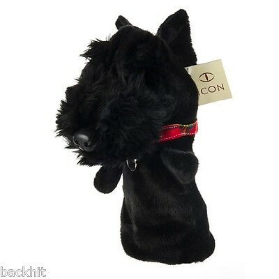 New - Paterson Icon Golf Novelty Scottie Dog Driver Headcover (Black)