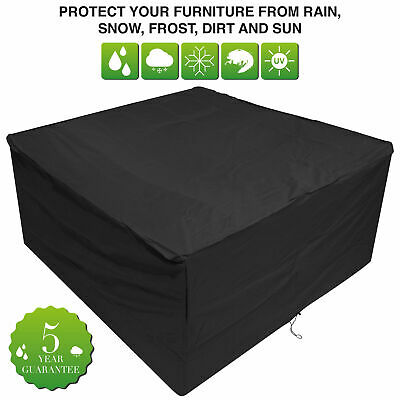 Oxbridge Black Medium Oval Waterproof Outdoor Garden Patio Set Furniture Cover