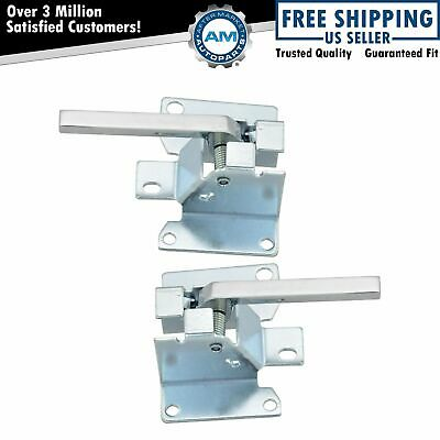 Chrome Inner Interior Inside Front Door Handles Set NEW for Chevy Pickup Truck