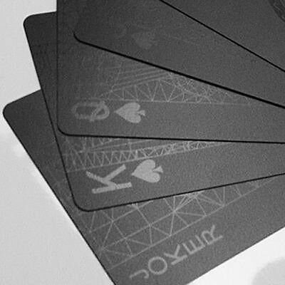 MollaSpace BLACK CARD DECK OF PLAYING CARDS LMS003 molla space