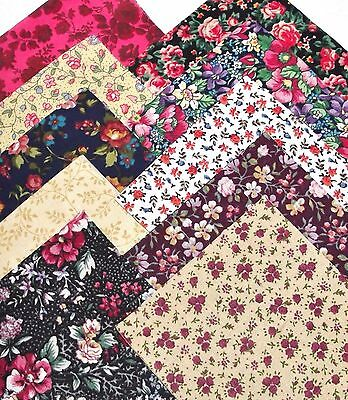 100 pack 4 inch cotton quilting squares Calico Roundup love small floral prints