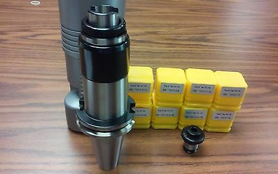 CAT40 tapping head,tapping collet chuck w. 8 positive drive P-type adapters-new