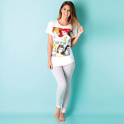 Womens Disney Princess Pyjamas In Grey Marl From Get The Label