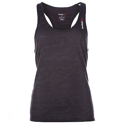 Womens Reebok Womens One Series Burnout Tank in Grey - 12-14 From Get The Label
