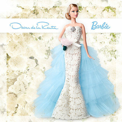 Barbie 2016 Gold Label OSCAR DE LA RENTA BRIDAL DGW60 New In Box