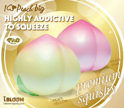 I-Bloom iBloom Japan Scented Jumbo Peach Realistic Squishy Masterpiece Squeeze