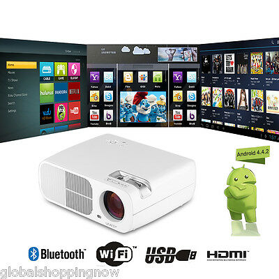 MINI Projector LED FULL HD 1080P Home Theater Multimedia AV/USB/VGA/HDMI/TF CARD