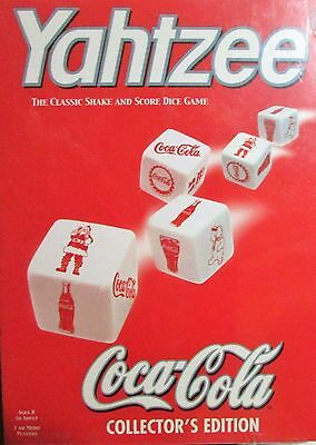 NIB Coke Coca-Cola YAHTZEE Collectors Edition Classic Shake & Score Game NOS!