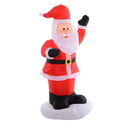 1.8M Lighted Santa Claus Inflatable Christmas Garden Decoration Xmas Figure New