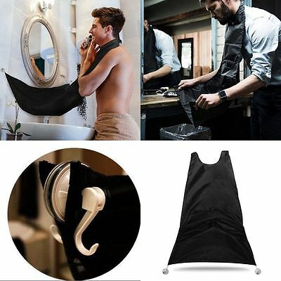 Beard Gather Cloth Apron Cape Bib Facial Hair Whisker Trimmings Grooming Catcher