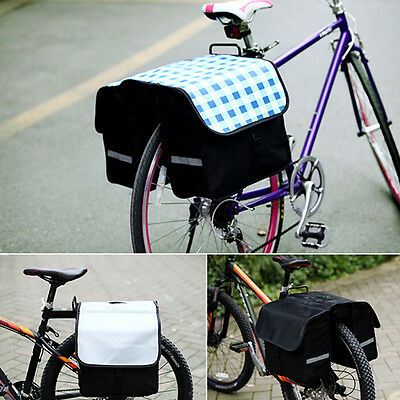 28L Bicycle Bike Rear Rack Tail Seat Bag Double Side Pannier Cycling Travelling