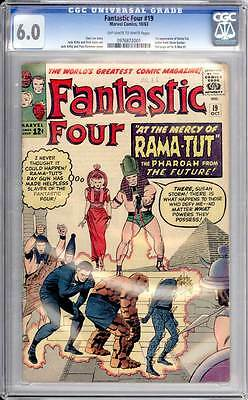 Fantastic Four # 19  At the Mercy of Rama-Tut !  CGC 6.0 scarce book !