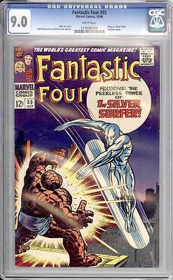 Fantastic Four # 55  Peerless Power of the Silver Surfer ! CGC 9.0 scarce book !