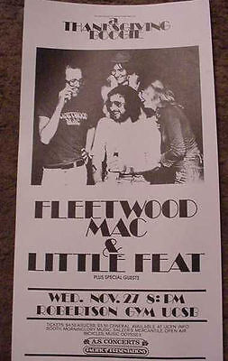 FLEETWOOD MAC LITTLE FEAT 1974 CALIFORNIA CONCERT POSTER 70'S ART  Mick 11.27