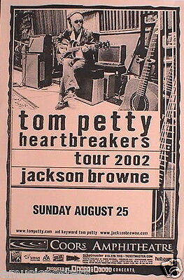 Tom Petty & The Heartbreakers/jackson Browne 2002 San Diego Concert Tour Poster