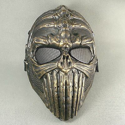 Terror Paintball Airsoft Full Face Protection Skull Spine Mask Halloween FDN10