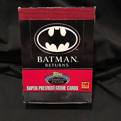 1991 Topps Stadium Club Batman Returns Trading Cards Wax Box 3 available